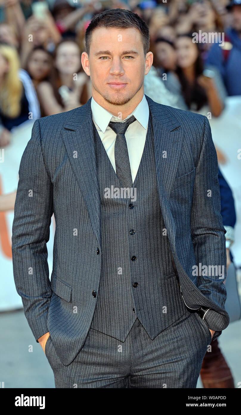 """Channing Tatum kommt für das Toronto International Film Festival Premiere von """"Foxcatcher' an Roy Thomson Hall in Toronto, Kanada, am 8. September 2014. UPI/Christine Kauen Stockbild"""