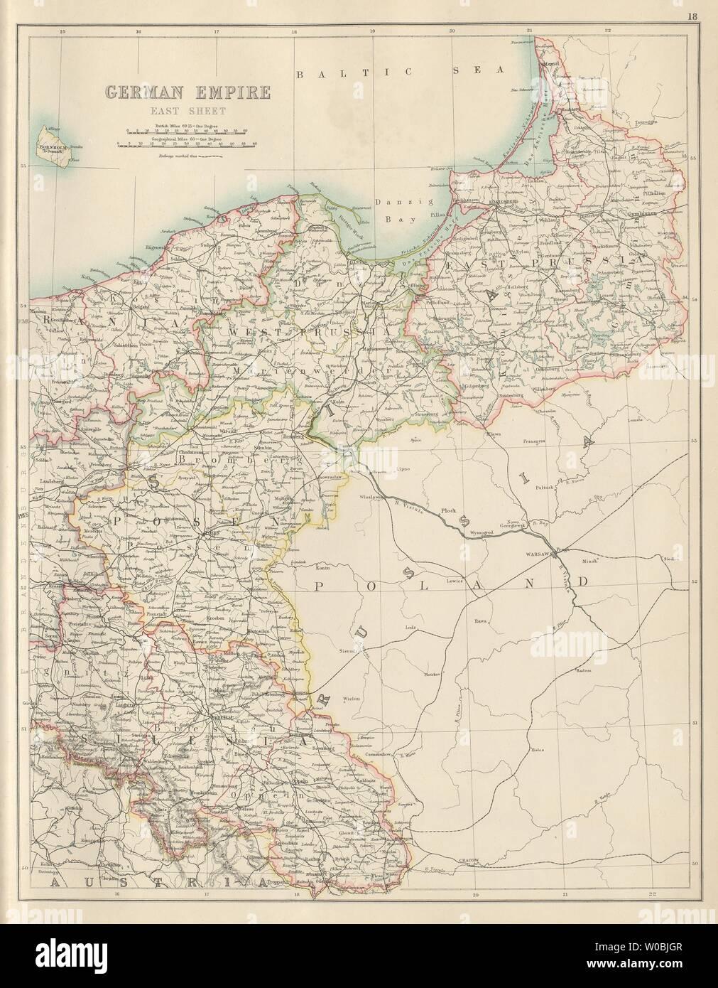 Polen Schlesien Karte.Deutsches Reich Osten Deutschland Polen Preußen Schlesien Posen