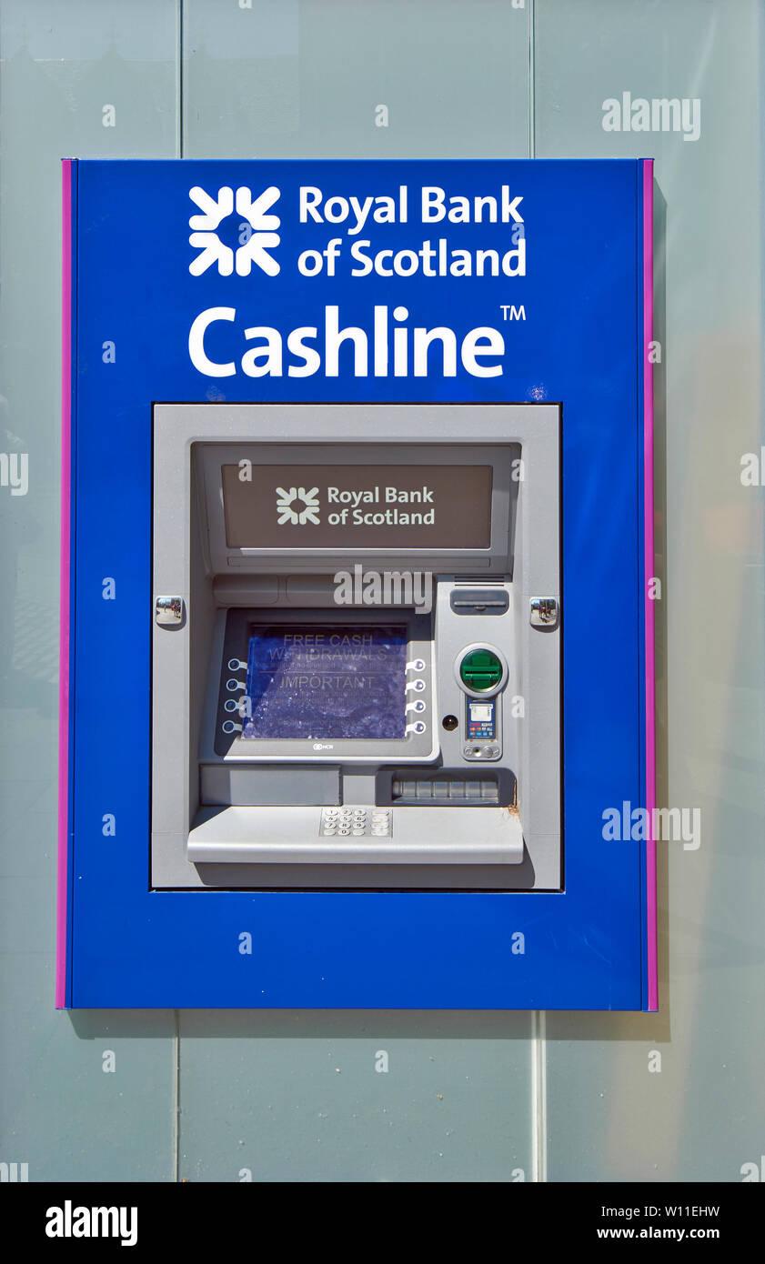 ROYAL BANK OF SCOTLAND ATM CASHLINE Stockfotografie - Alamy