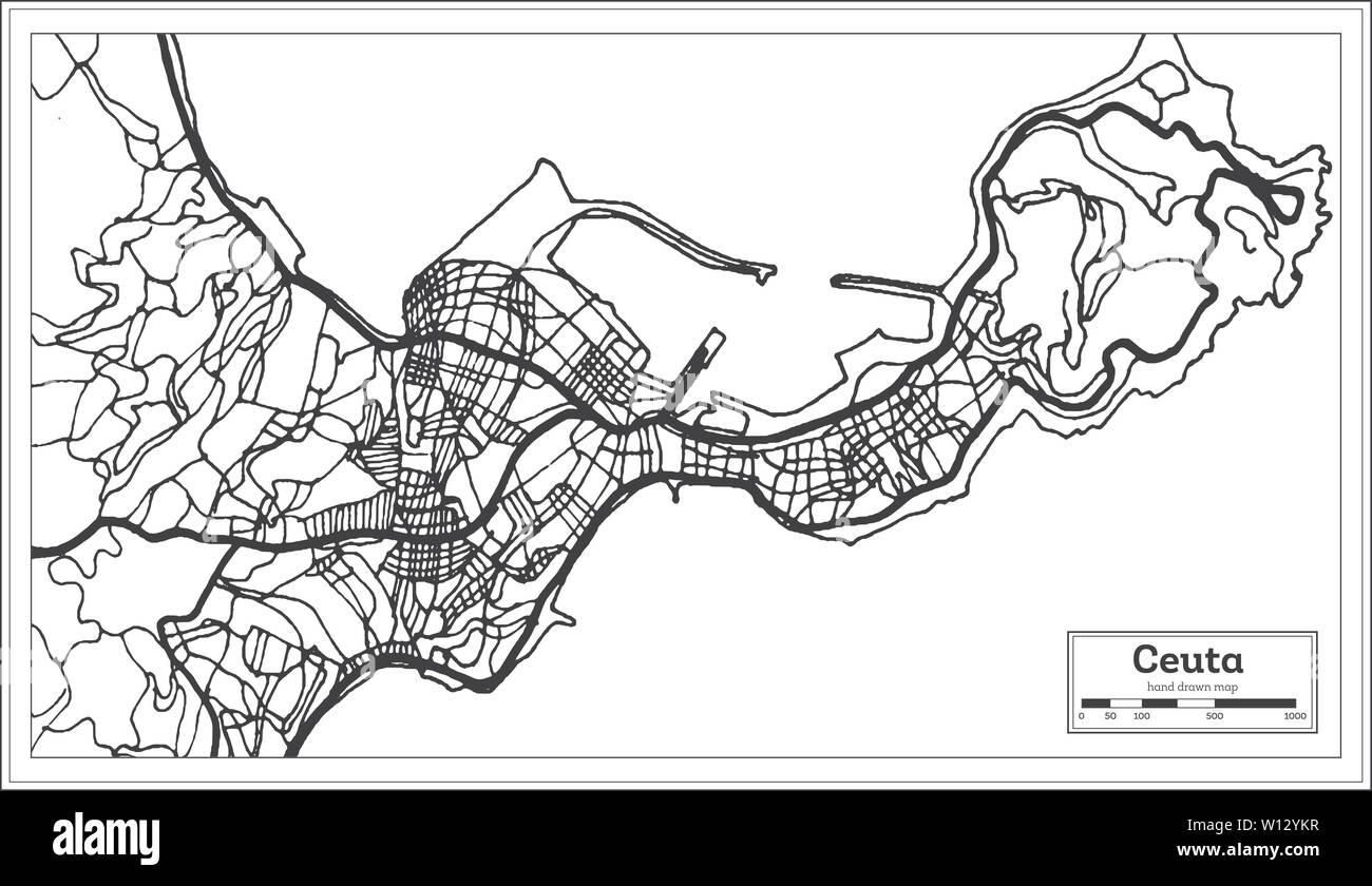 Spanien Karte Schwarz Weiß.Ceuta Stockfotos Ceuta Bilder Seite 3 Alamy