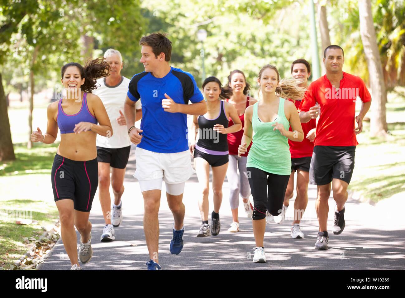 Sport & Fitness, Ausdauer, laufen Stockfoto