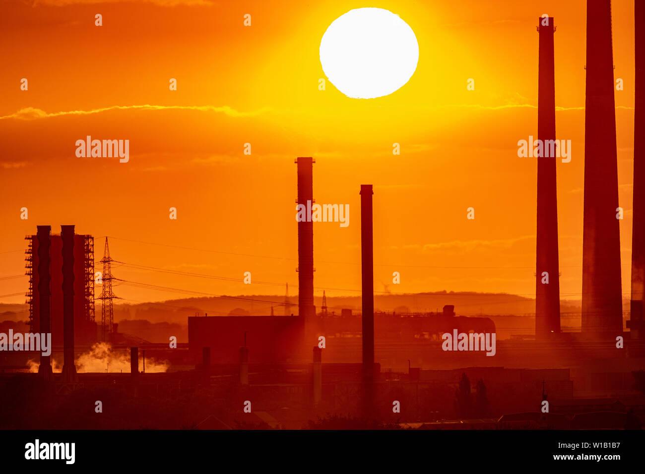 Sonnenuntergang im Ruhrgebiet Stockbild