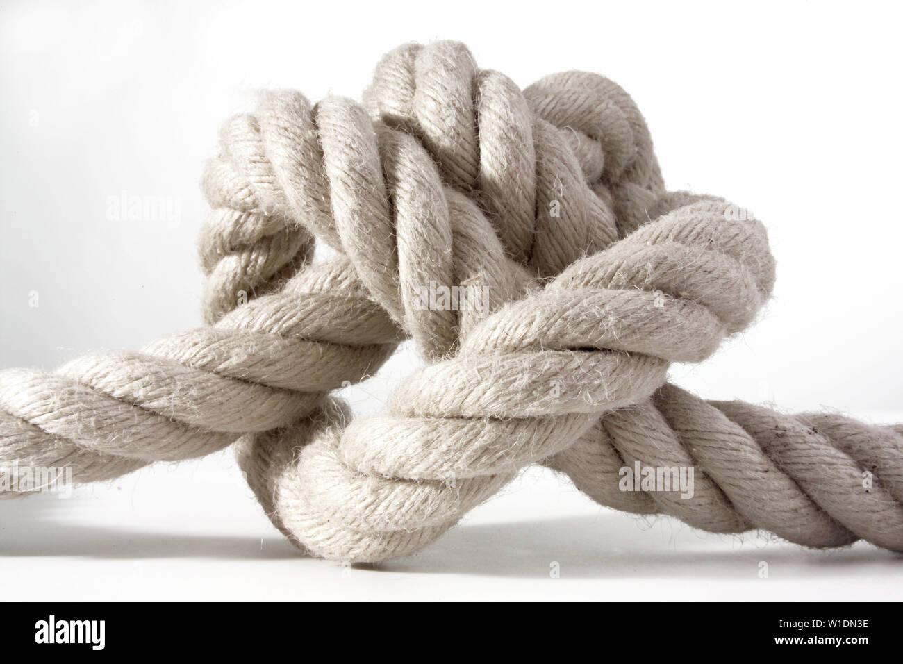 Seil, Knoten gebunden, sailor Knoten Stockfoto