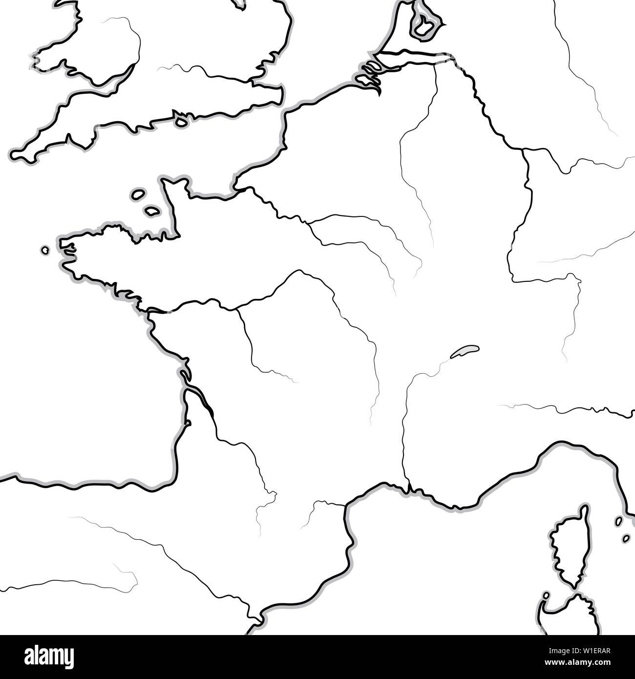 Regionen Frankreich Karte.Karte Der Französischen Land Frankreich Und Seine Regionen île De