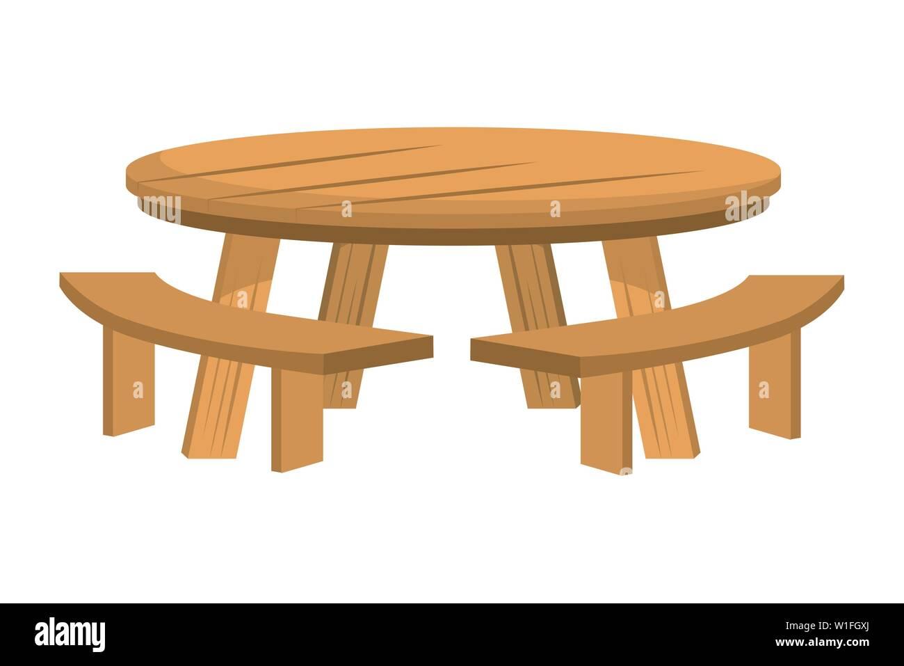 Tisch Und Bank Design Holz Home Mobel Interieur Moderne Buro Und Stil Thema Vector Illustration Stock Vektorgrafik Alamy