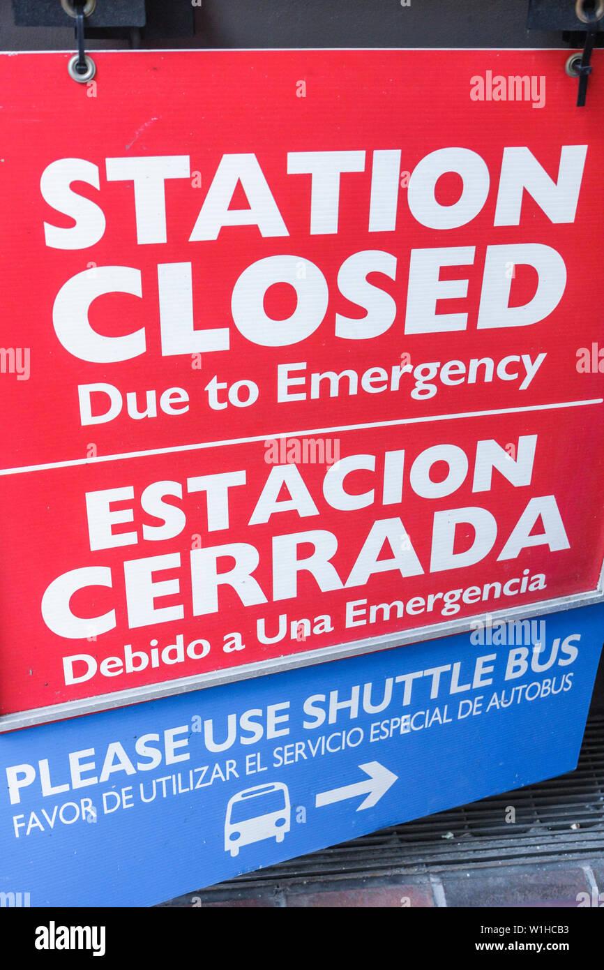 Miami Florida Civic Center Metrorail Station Nahverkehr öffentliche Verkehrsmittel erhöhte Rail System anmelden Not Schließen Schließen Stockbild