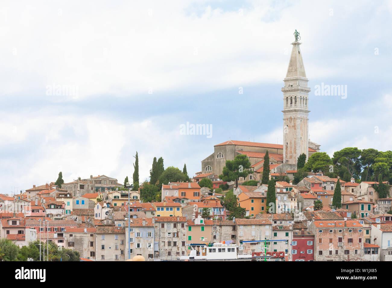Rovinj, Istrien, Kroatien, Europa - Blick auf die Altstadt von Rovinj Stockfoto