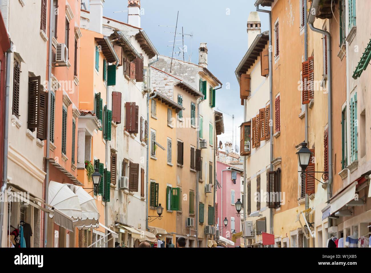 Rovinj, Istrien, Kroatien, Europa - ein Spaziergang durch die Altstadt von Rovinj Stockfoto