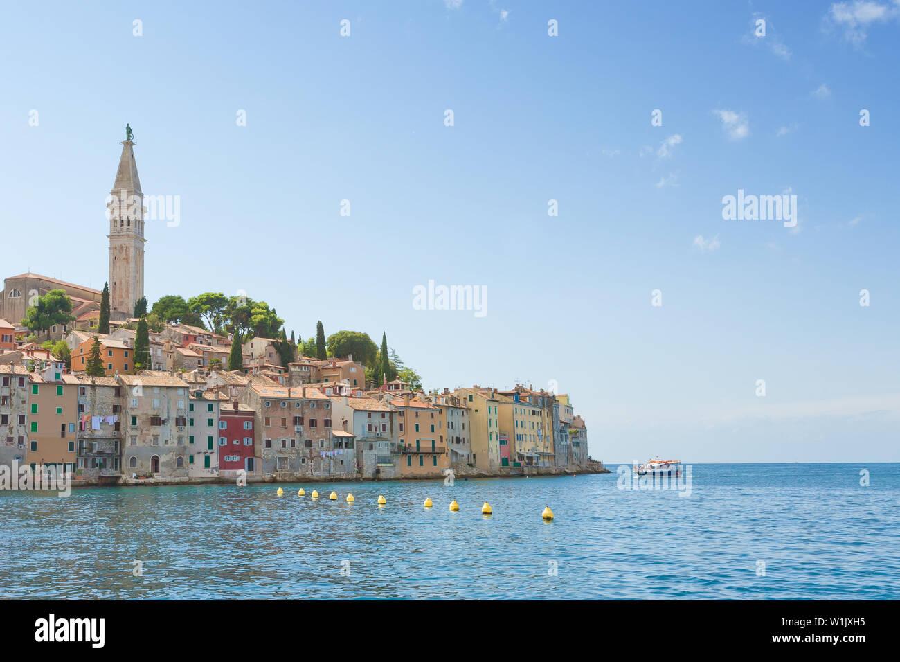 Rovinj, Istrien, Kroatien, Europa - Historische Altstadt von Rovinj am Mittelmeer Stockfoto