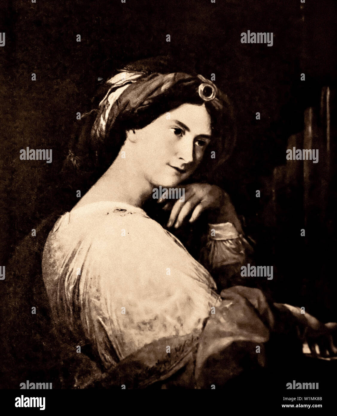 """Anna Giustiniani Schiaffino namens """"Nina"""", Patriot und Intellektuelle war leidenschaftlicher Liebhaber der jungen Cavour Stockbild"""