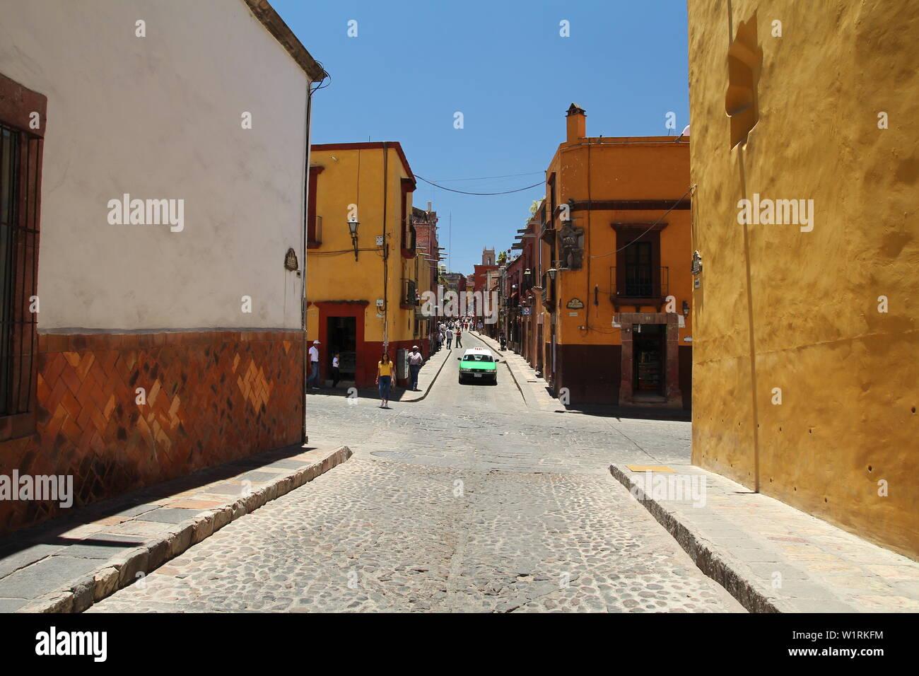 Architektur und Bilder von San Miguel de Allende, Guanajuato, Mexiko. Stockfoto