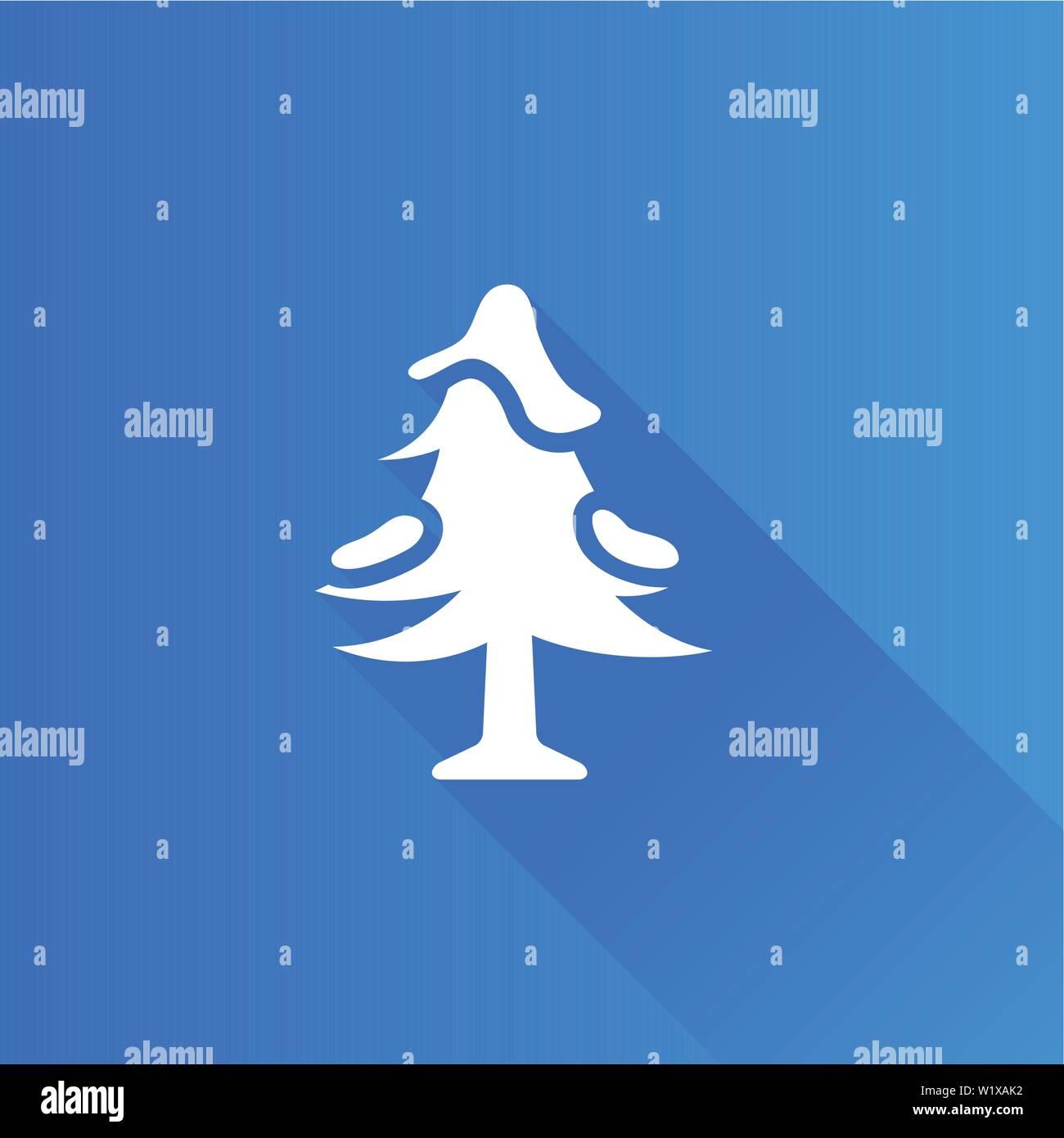 Baum Symbol in der Metro Benutzeroberfläche farbe Stil. Stock Vektor