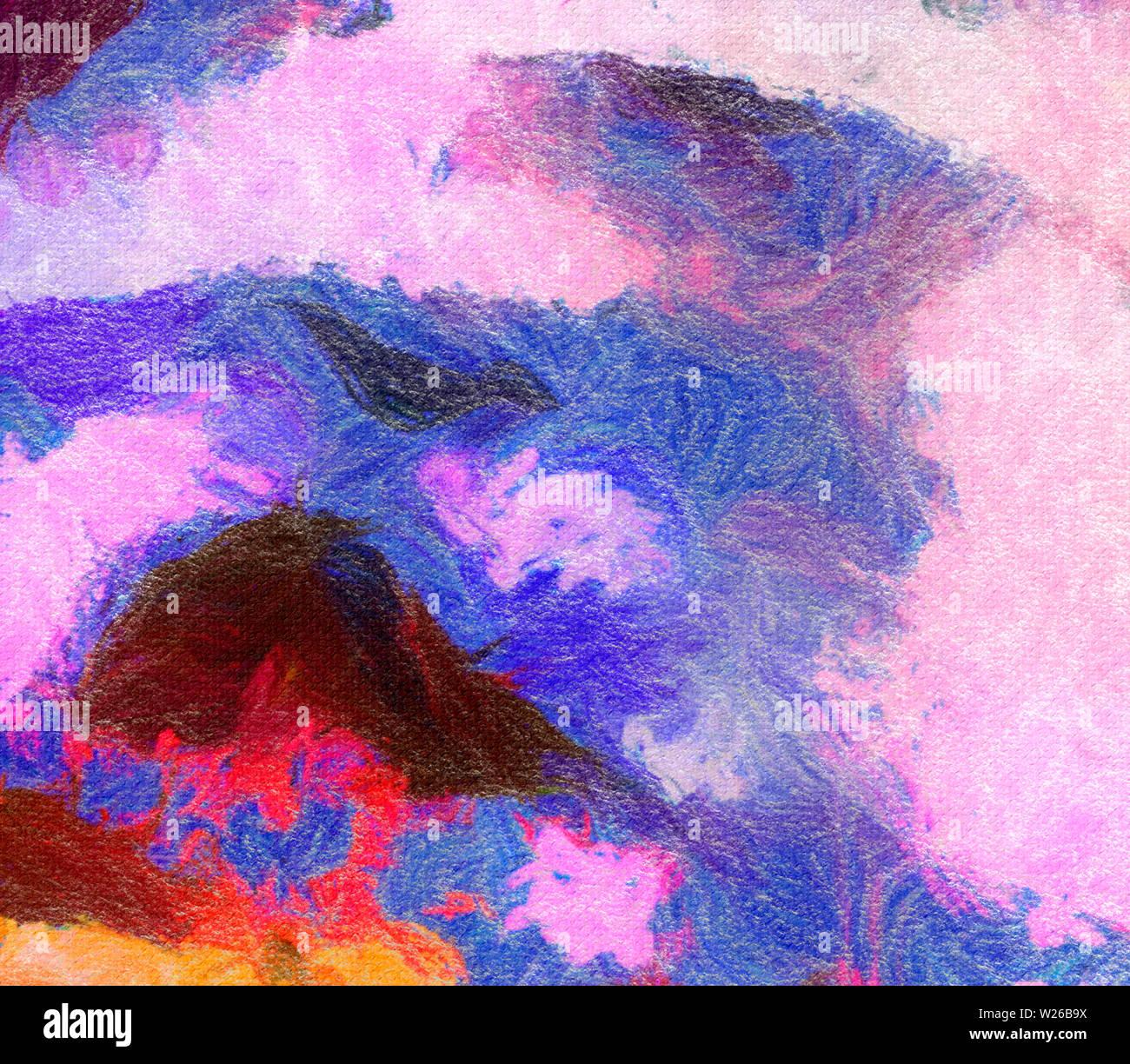 Abstrakte Textur Hintergrund Auf Leinwand Aquarell Artwork Gemalt Digitale Hand Gezeichnete Kunst Moderne Kunstlerische Arbeit Gut Fur Gedruckte Bilder Design Pos Stockfotografie Alamy