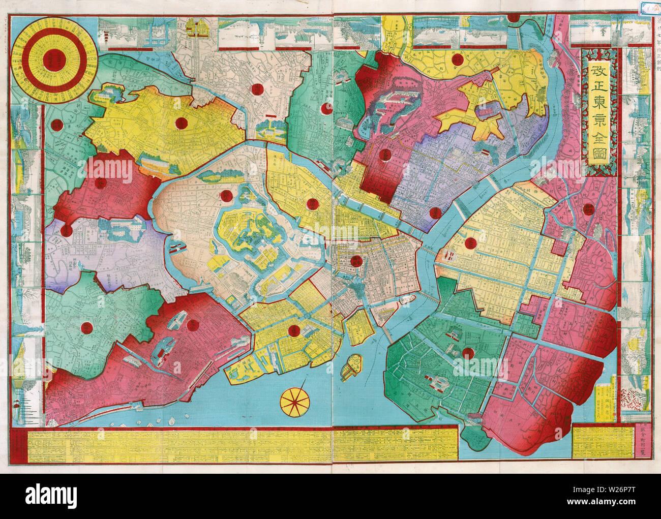 Japan Karte Physisch.Tokyo Karte Stockfotos Tokyo Karte Bilder Alamy