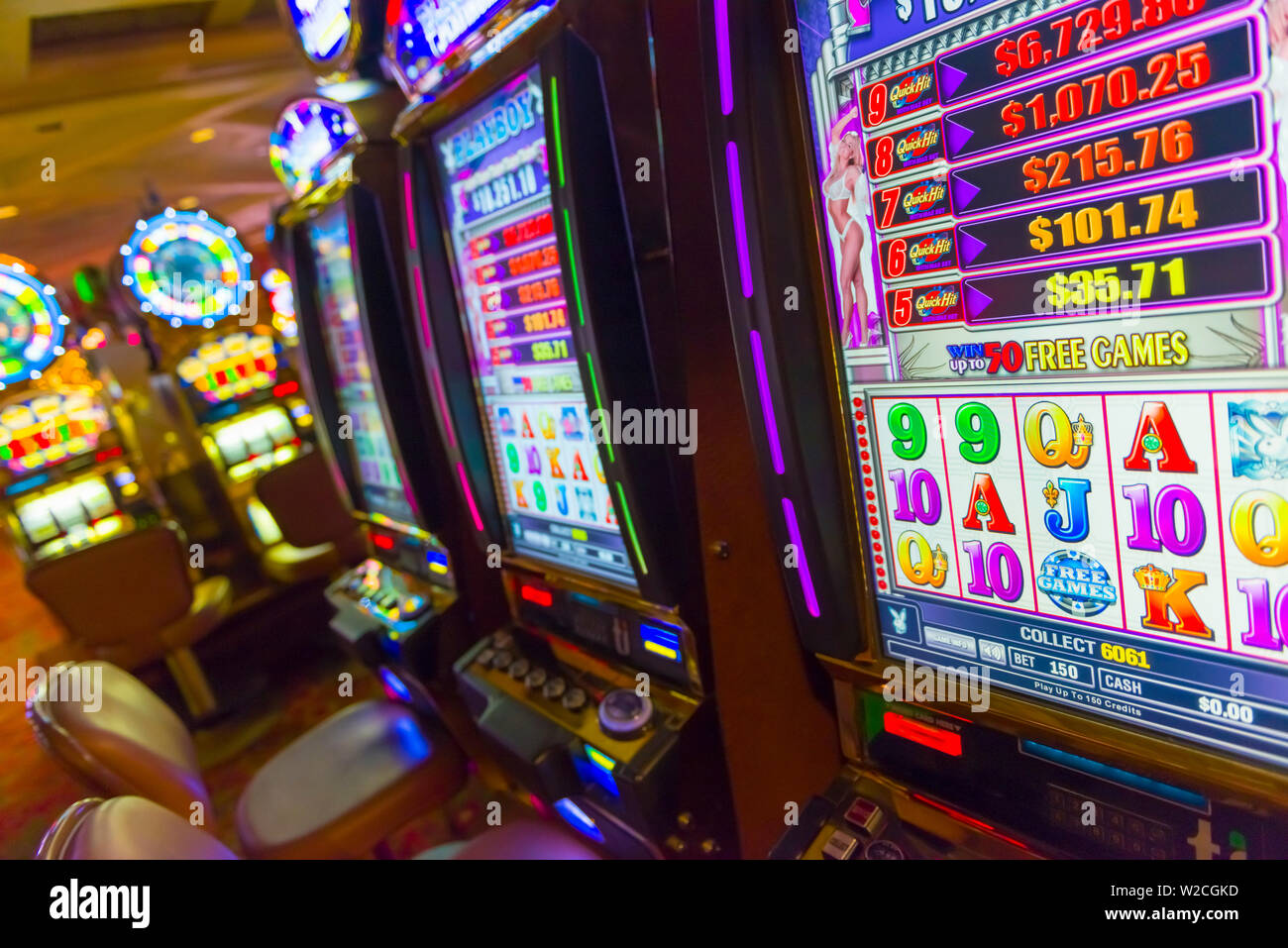 USA, Nevada, Las Vegas, Treasure Island Casino and Resort, Gaming Maschine Stockfoto