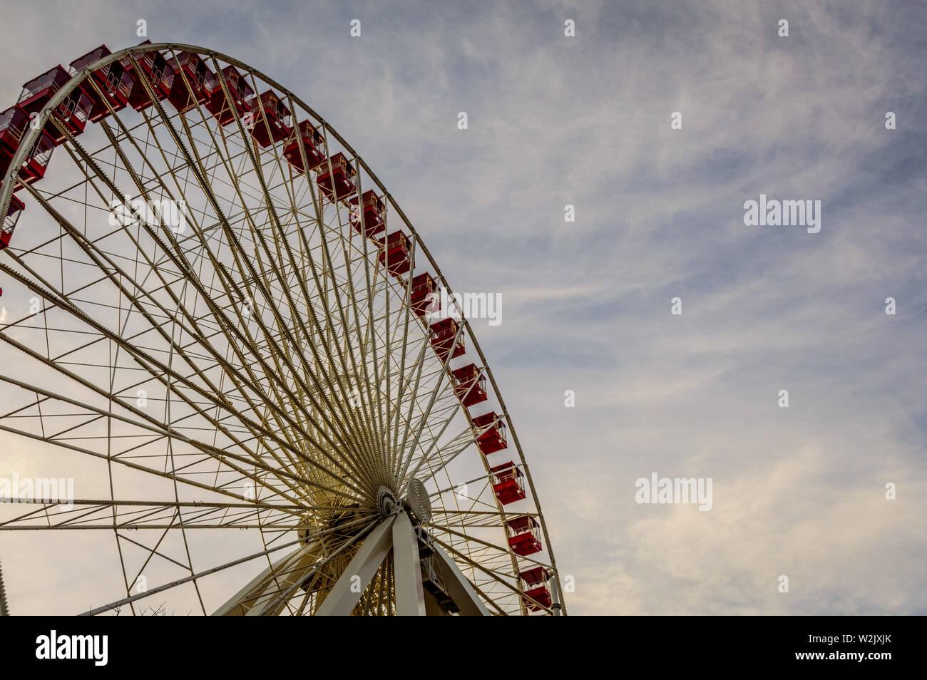 Riesenrad auf dem Navy Pier in Chicago Stockfoto