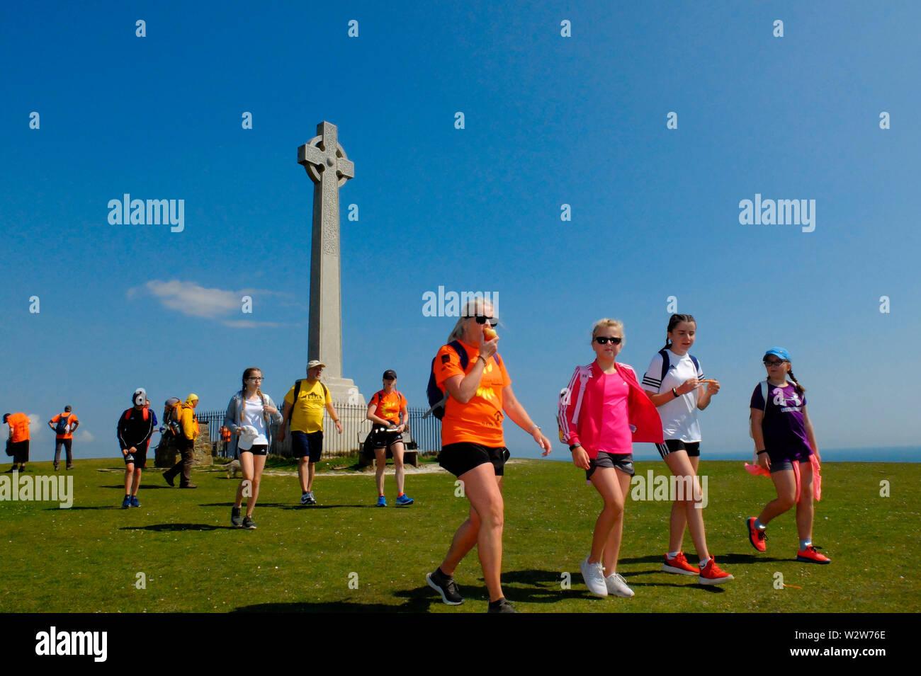 Mountbatten's Walk der Wight 2019 Veranstaltung Stockfoto