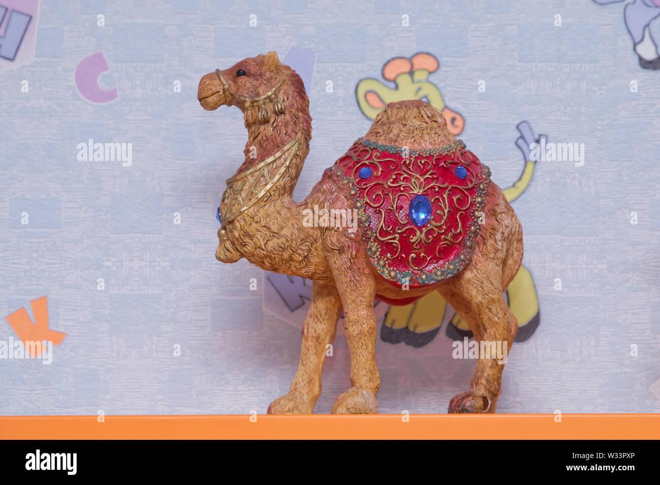 Schöne kamel Souvenir wie in den Souq von Baku, Aserbaidschan Emirate. verziert Kamel verkauft, in der Regel in der indischen Kultur, gebraucht als Souvenir. Stockbild