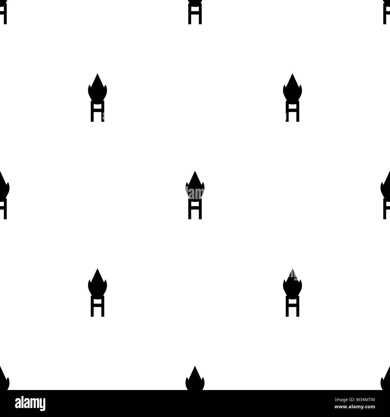Nahtlose Muster mit schwarzer Silhouette Symbol von Katar auf weißem Hintergrund. Mittelalterliche Waffe unterzeichnen. Vector Illustration für Design, Web, Geschenkpapier, f Stockbild