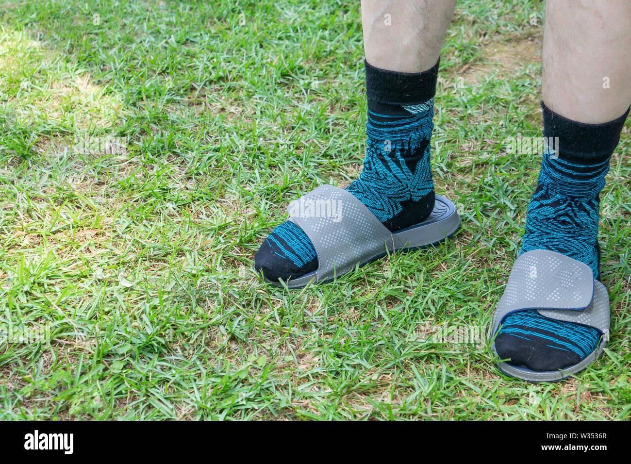 Sandalen Bilder Socken Stockfotosamp; Alamy Und jLqSUGzMVp