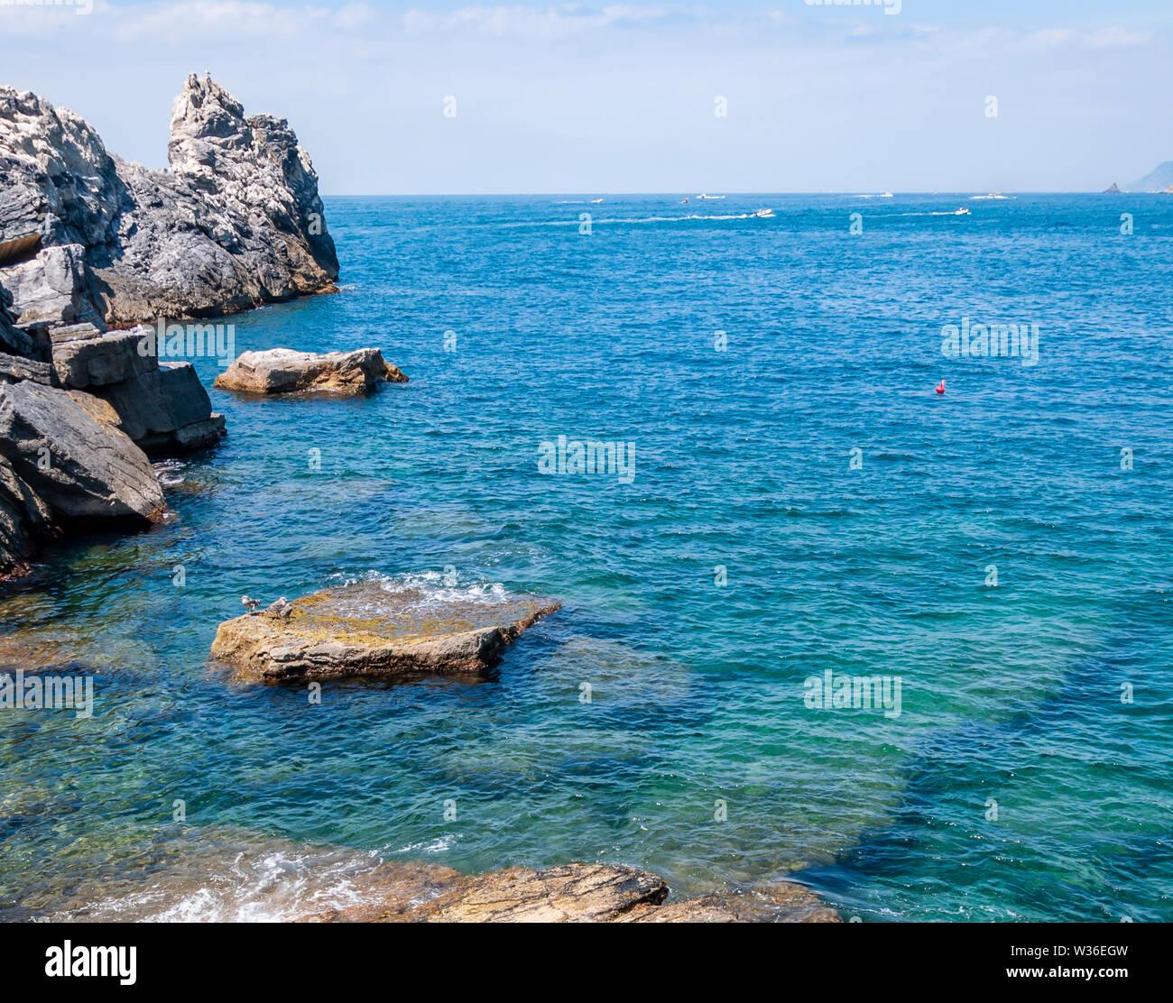 Portovenere Italien Schönen Dorf Am Meer Mit Dem Berühmten