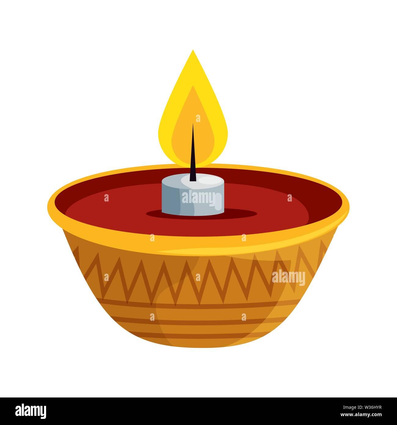 Ramadan Kareem Kerze dekorativen Symbol Stockbild