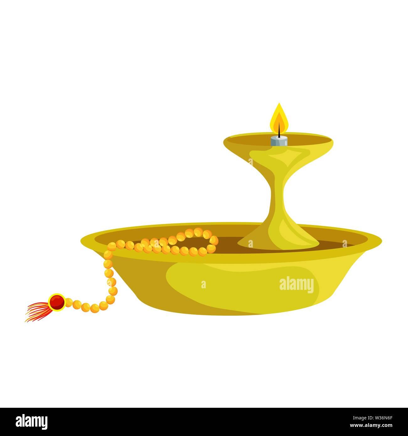 Ramadan Kareem Schale mit Kerze dekorative Stockbild