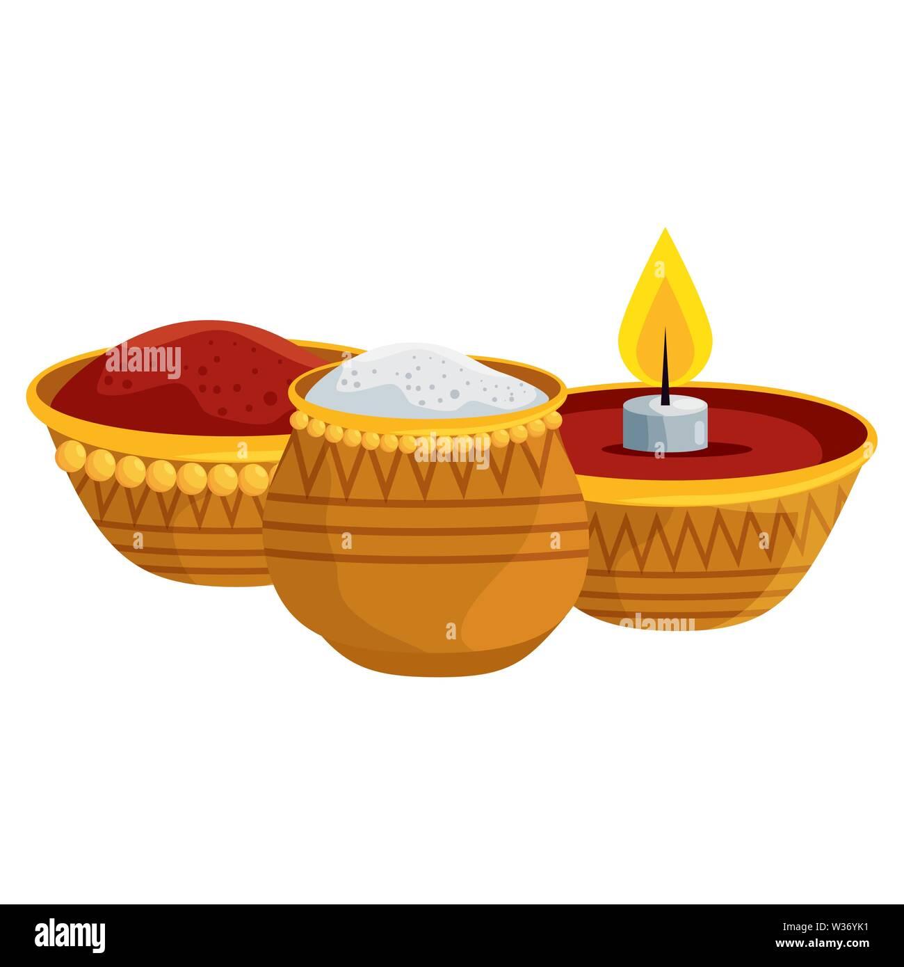 Ramadan Kareem Kerze und Essen traditionelle Symbole Stockbild