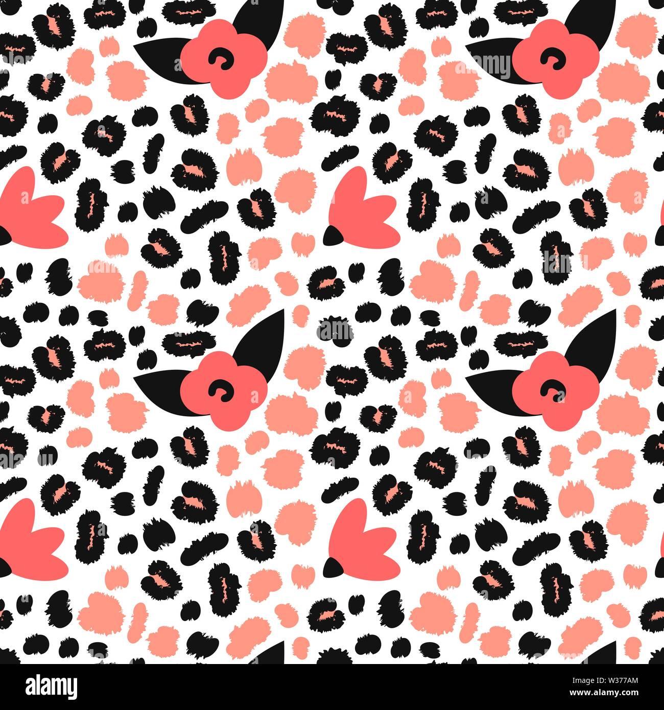 Cute nahtlose Vektor Muster Hintergrund Abbildung mit Rosa und ...