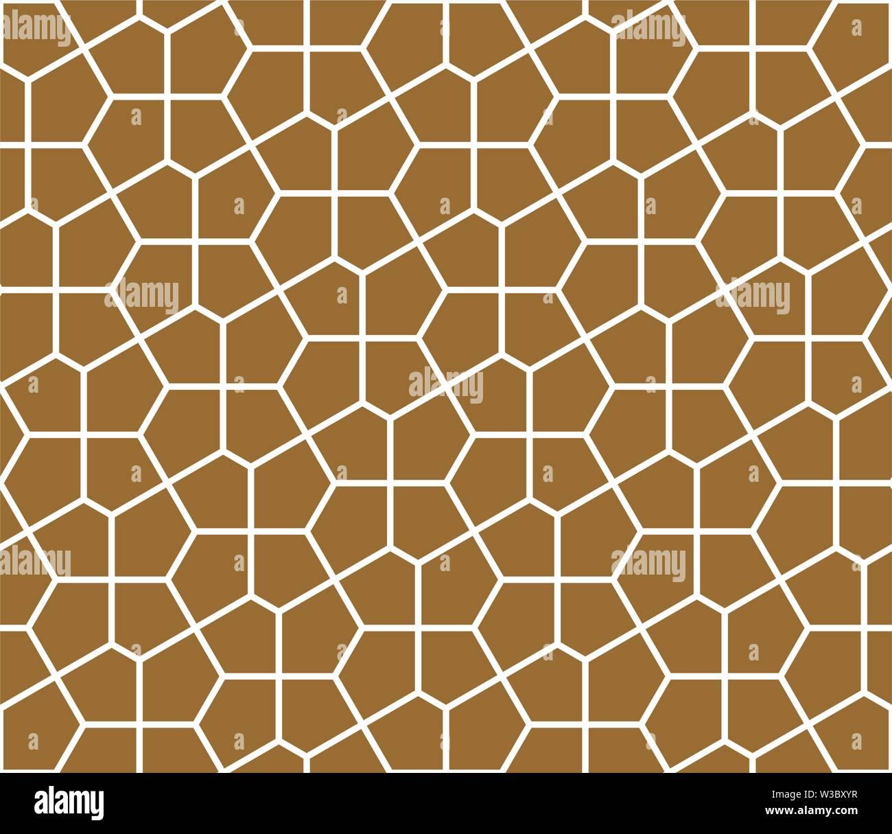 Nahtlose geometrische Verzierung auf traditionelle arabische Kunst. muslimischen Mosaik. Braune Farbe Hintergrund. Die durchschnittliche Dicke. Stockbild