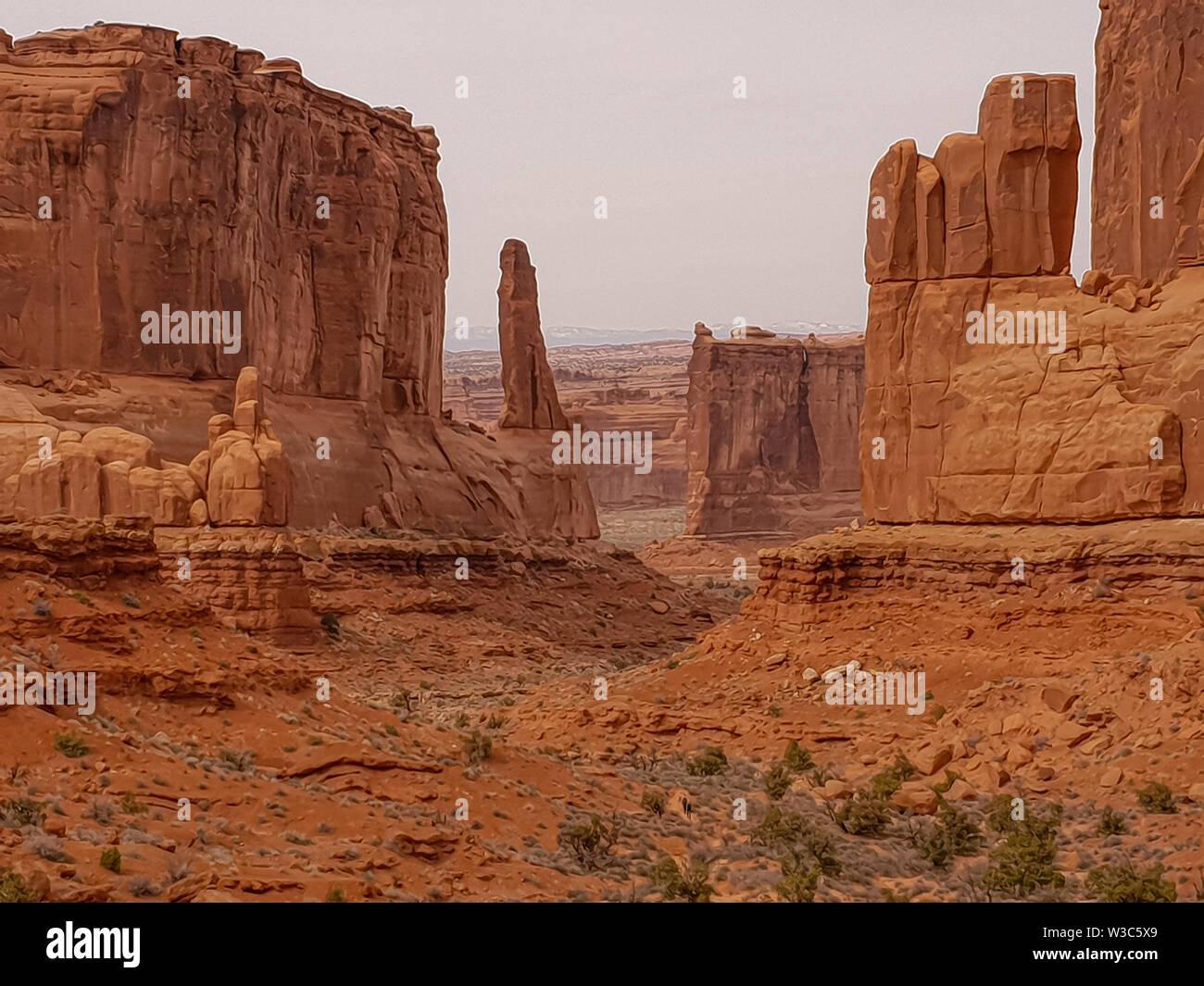 Arches-Nationalpark in Utah Stockbild