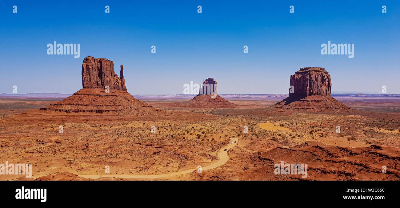 Monument Valley in Utah Stockbild