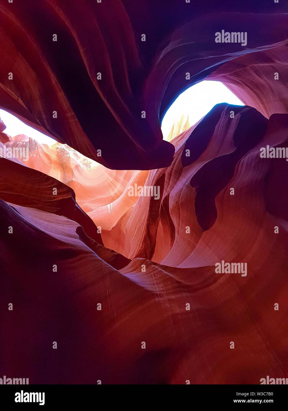 Antelope Canyon in Arizona Stockbild