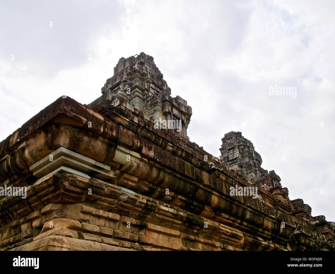Architektur der alten Tempelanlage Angkor, Siem Reap, Kambodscha Stockbild