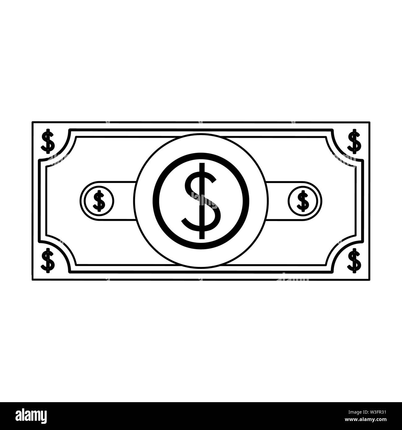 Geld sparen cash Bill cartoon Vector Illustration graphic design Stockbild