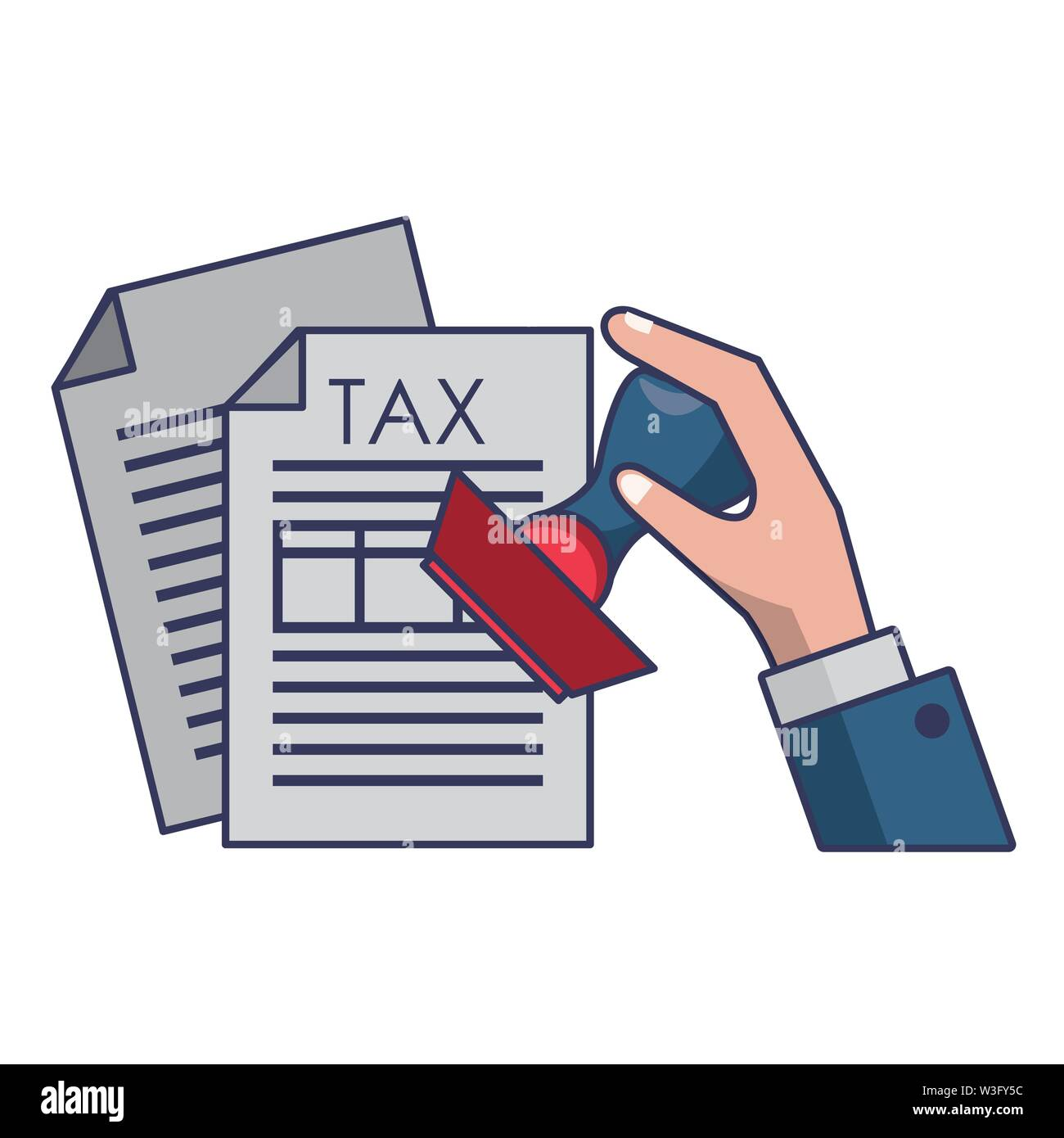 Landesregierung business balance Berechnung arbeiten Persönliche Finanzen Elemente cartoon Vector Illustration graphic design Stockbild