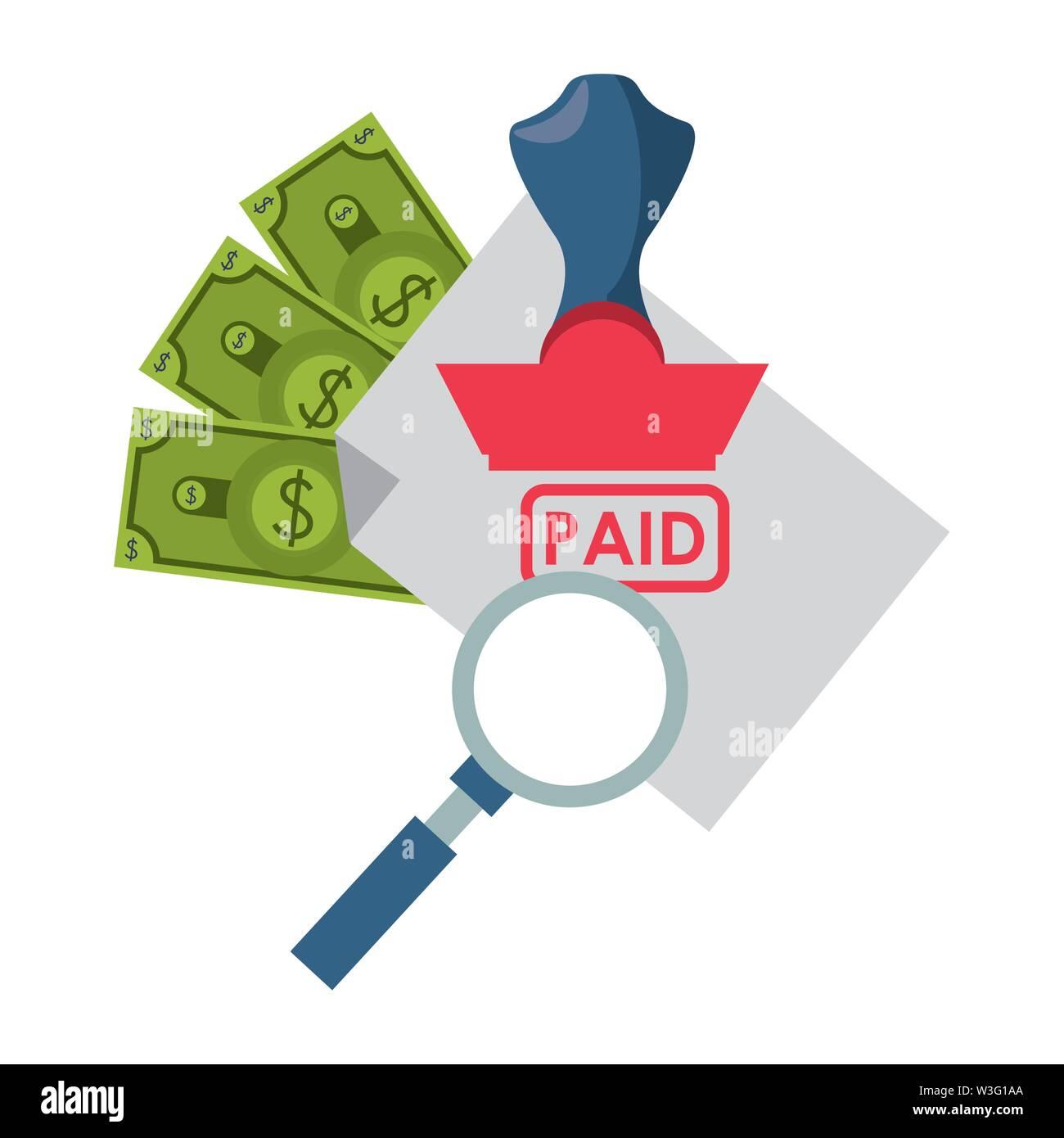 Geld sparen Unternehmen persönliche Finanzierung Zahlung berechnen Elemente cartoon Vector Illustration graphic design Stockbild