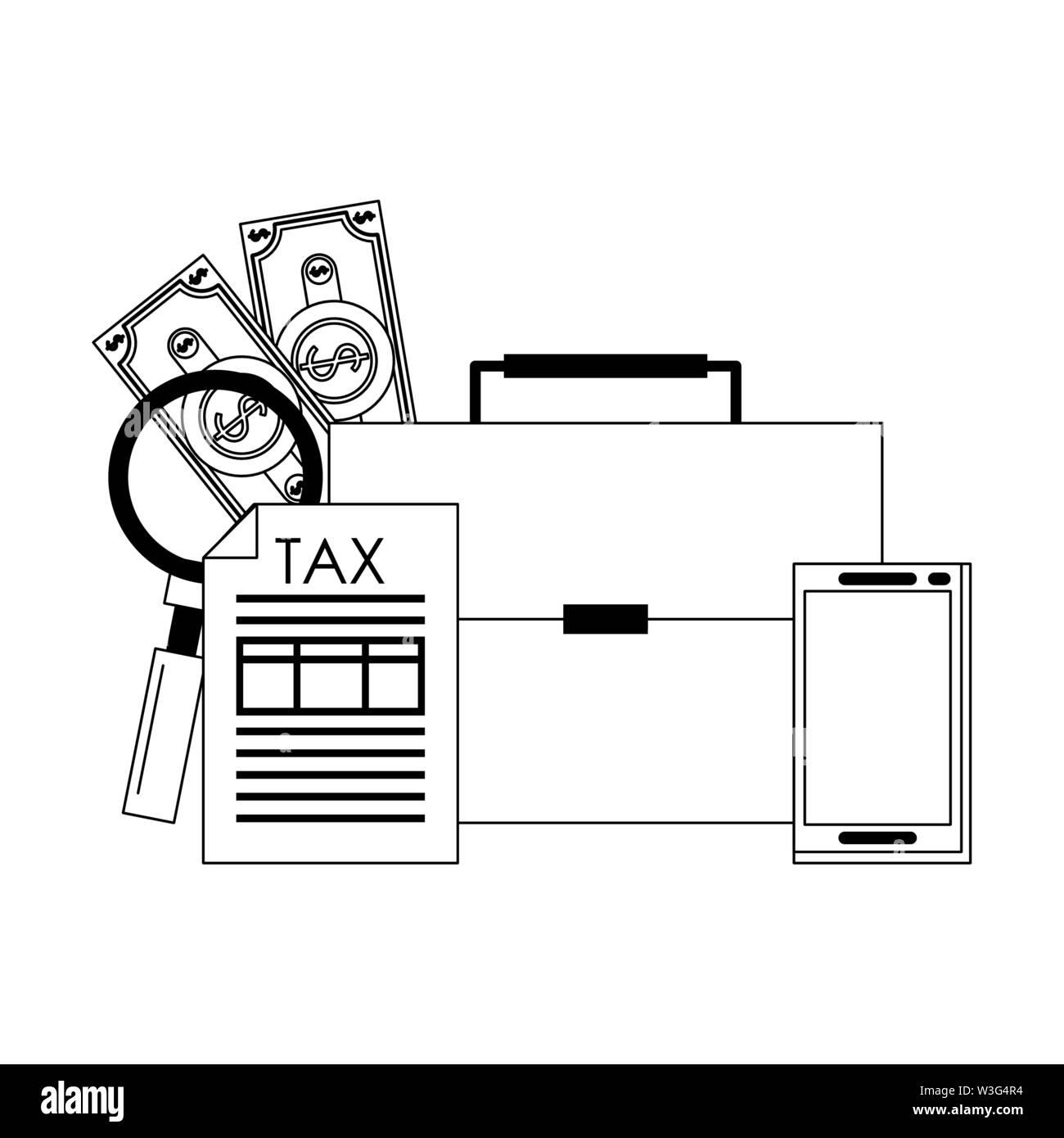 Landesregierung business balance Berechnung arbeiten Persönliche Finanzen Geld sparen Elemente cartoon Vector Illustration graphic design Stockbild