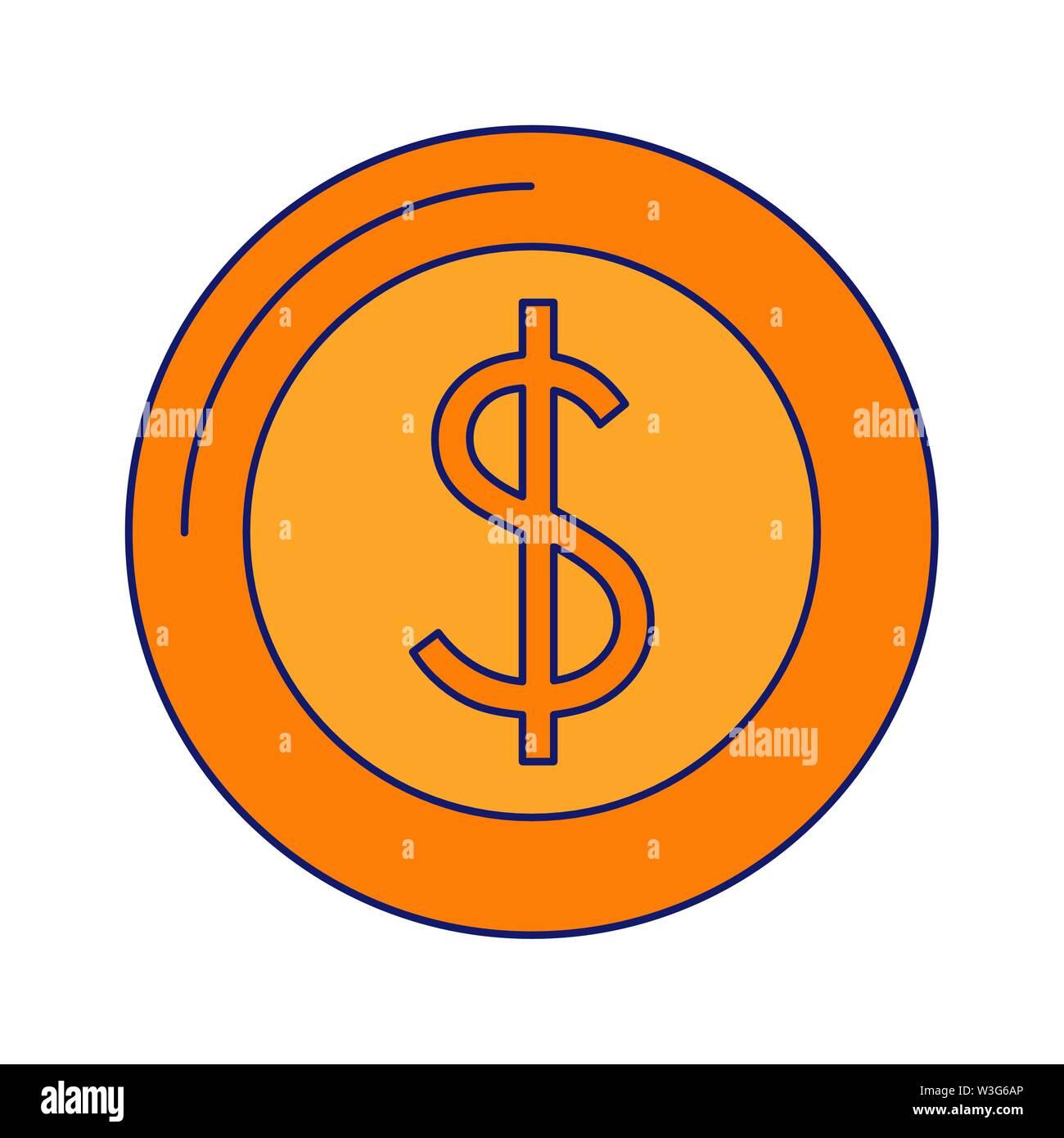 Geld sparen cash Münze cartoon Vector Illustration graphic design Stockbild