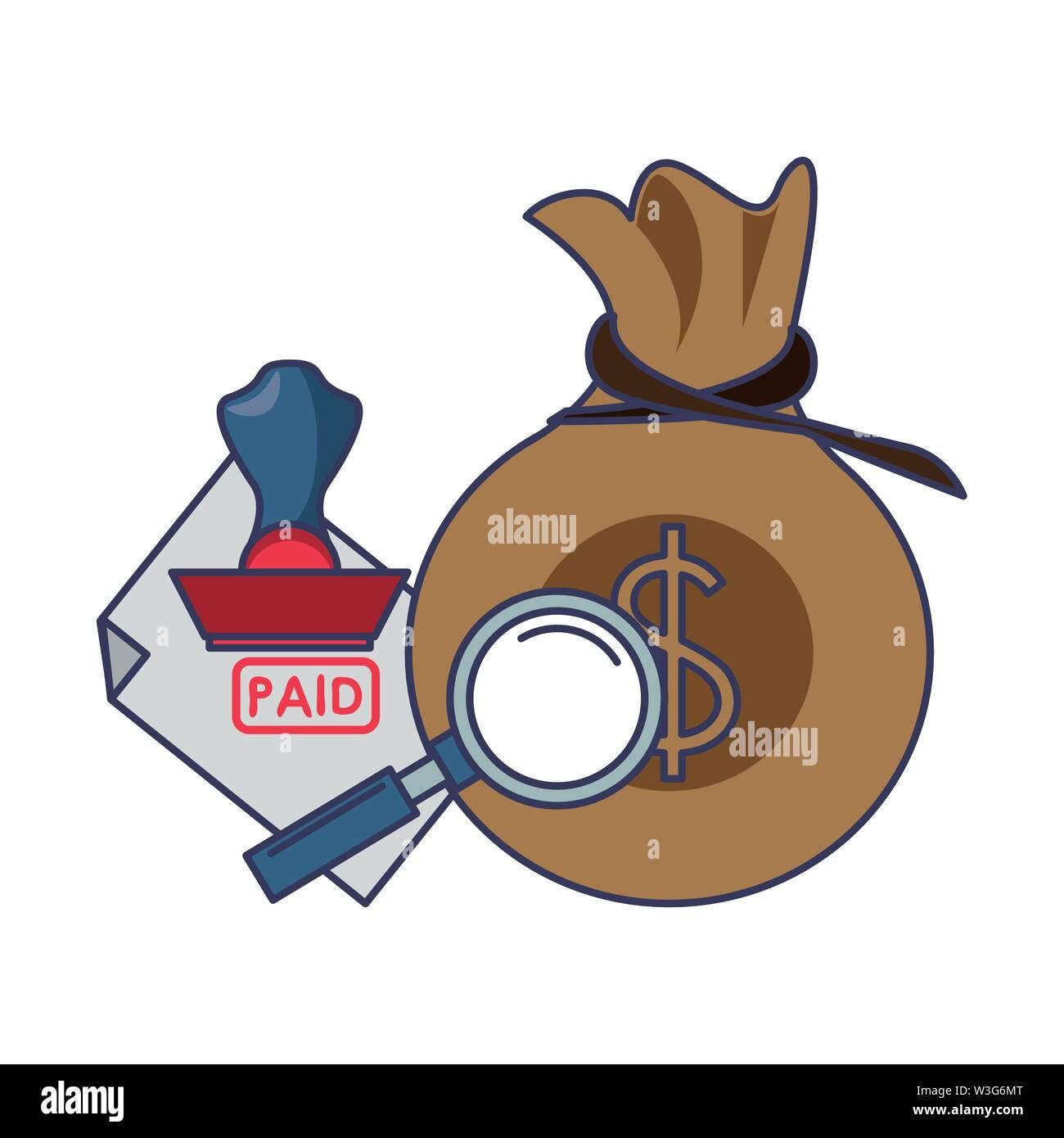 Geld sparen Business Finance banking Zahlung Konzept Elemente cartoon Vector Illustration graphic design Stockbild