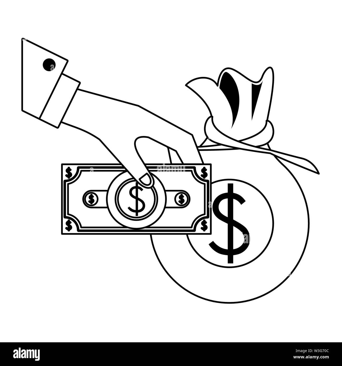 Geld sparen Business Finance banking Konzept Elemente cartoon Vector Illustration graphic design Stockbild