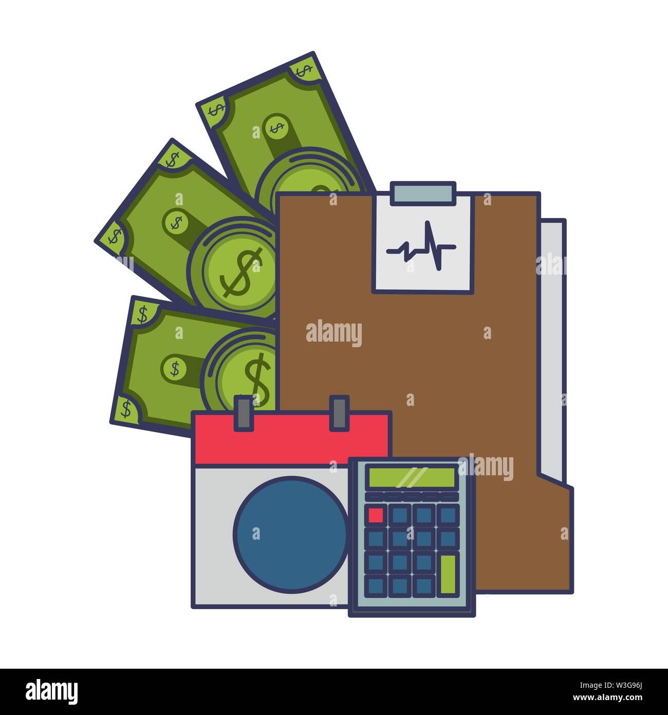 Geld sparen Finanzen Cartoon Stockbild