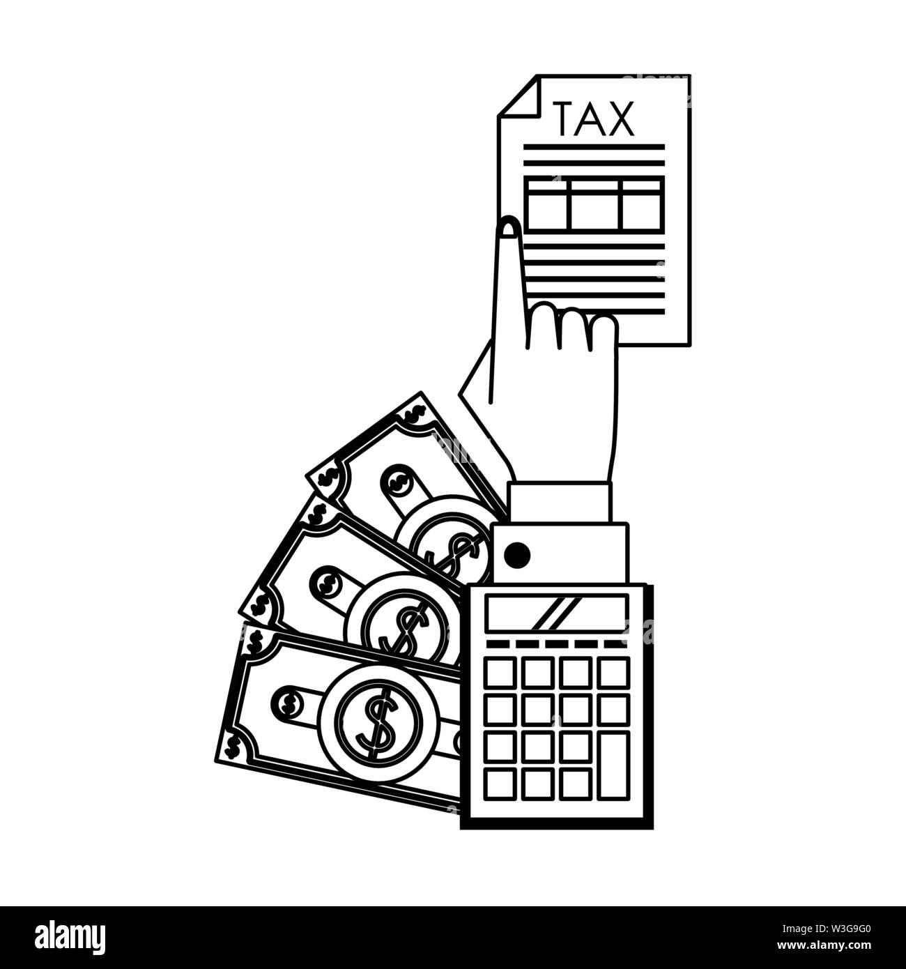 Landesregierung business Karikatur in Schwarz und Weiß Stockbild