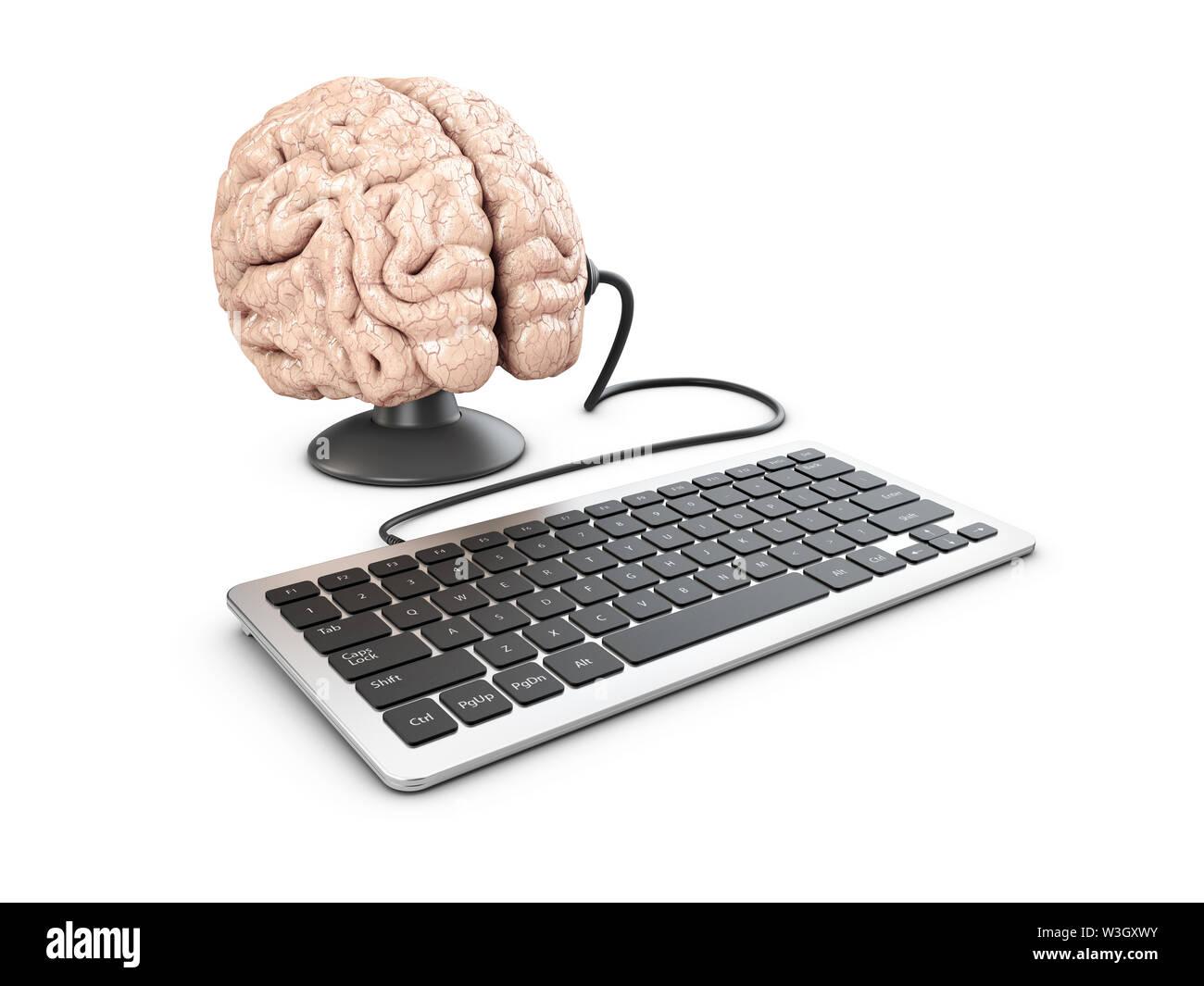 3D-Darstellung von Mind Control und Propaganda Konzept. Stockbild