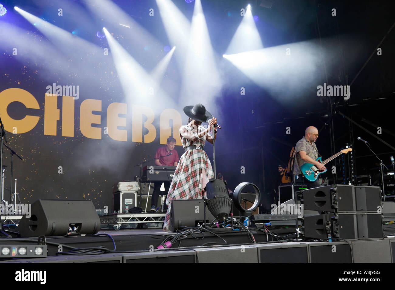 Morcheeba durchführen auf der Hauptbühne am OnBlackheath Music Festival 2019 Stockbild