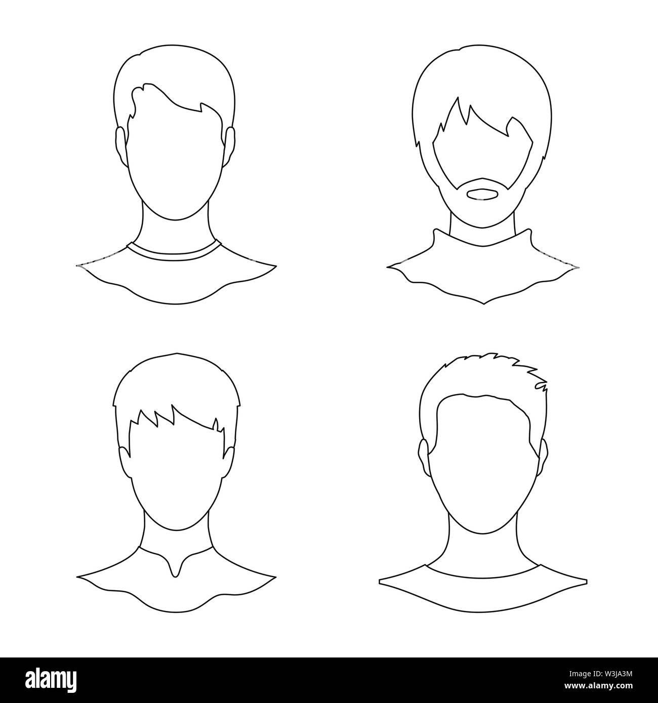 Vektor Design von professionellen Foto- und unterzeichnen. Professionelle und Profil vektor Illustration. Stockbild