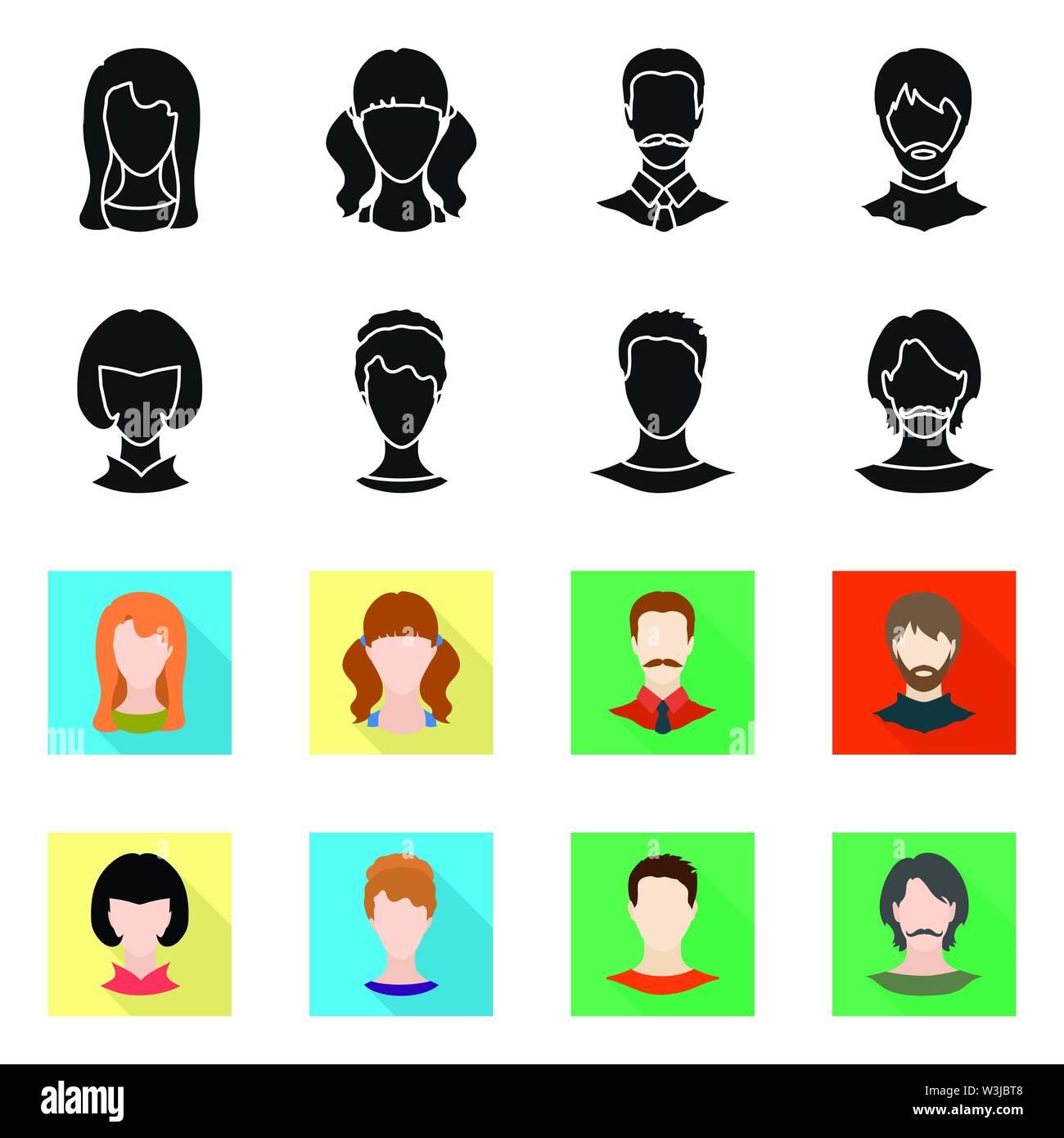 Vector Illustration von professionellen Foto- und unterzeichnen. Sammlung von Professionellen und Profil vektor Illustration. Stockbild