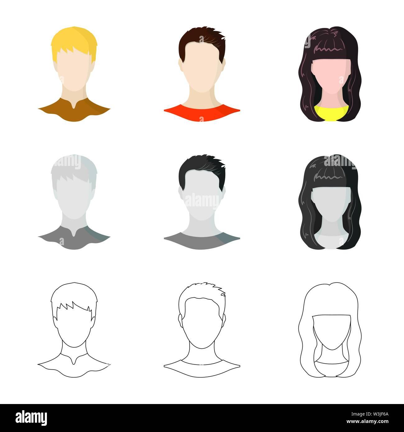 Vector Illustration von professionellen Foto- und unterzeichnen. Sammlung von Professionellen und Profile stock Symbol für das Web. Stockbild