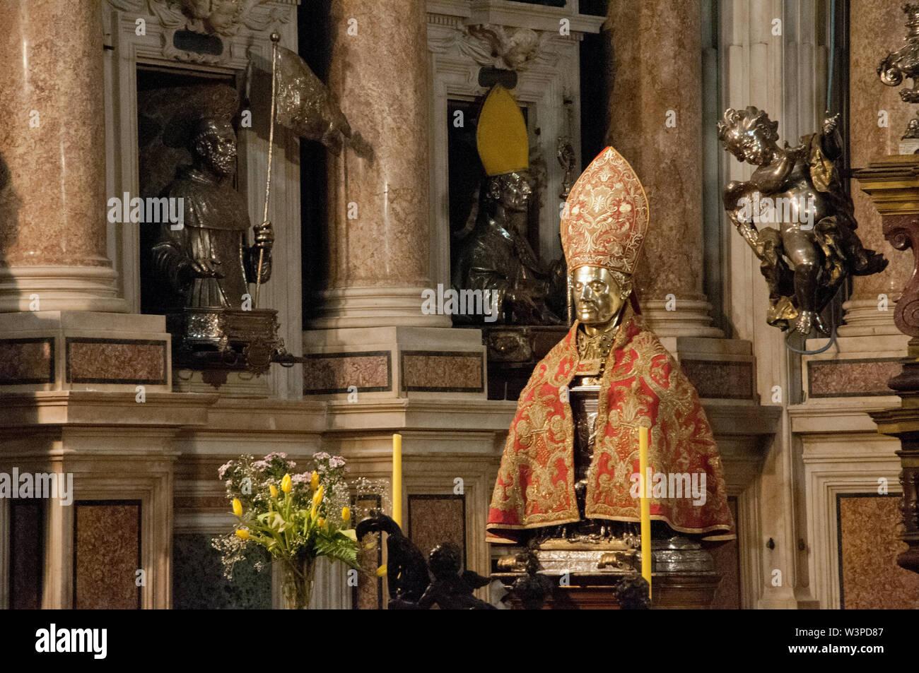 Europa, Italien, Kampanien, Neapel, Königliche Kapelle der Schatz des heiligen Januarius, der Kathedrale von Neapel Stockfoto