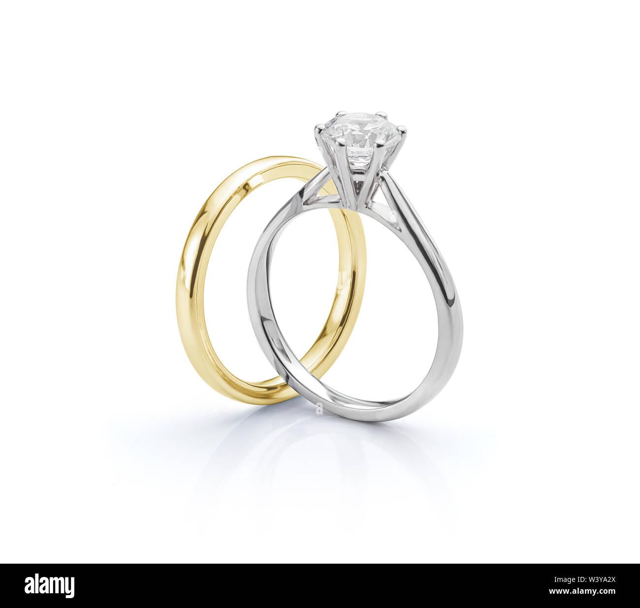 White Gold Diamond Engagement Ring Gold Hochzeit Ring Auf